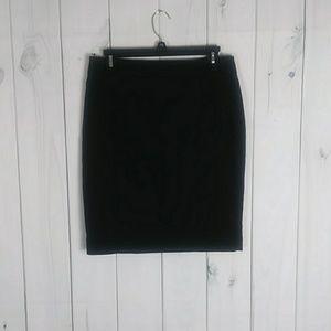 H&M black pencil skirt size 10
